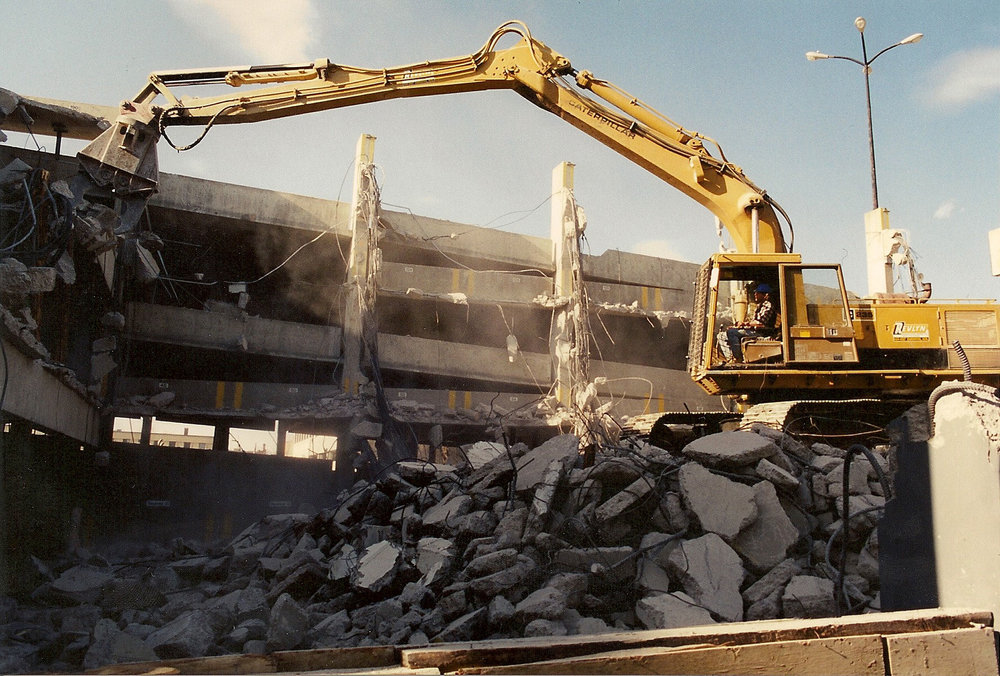 7 Level Parkade Demolition