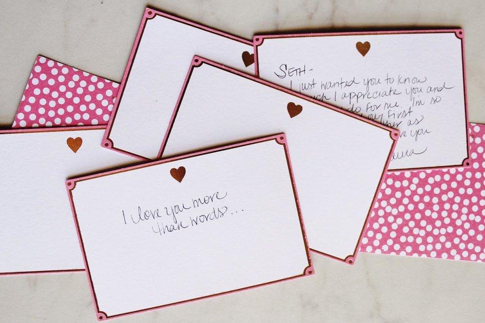 Handwritten Valentine Love Notes