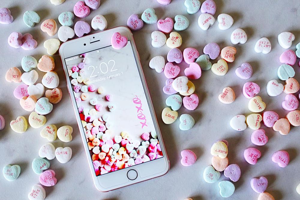 February valentine's mobile wallpaper