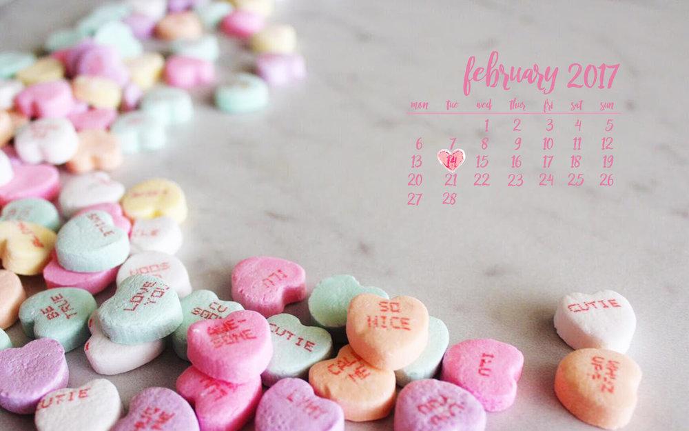 February Valentine's desktop wallpaper