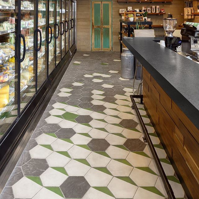 Artisan tiles mix the identity of Parma and their commitment to local sourcing. . . . #oliveroblandstudio #parmagt #interior #archdaily #ad #archdigest #comercialdesign #tiles #openspace #floors #ihavethisthingwithfloors