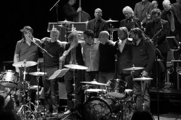 World's Greatest Drummer Concert 2009 with Pete Cater, Steve White, Karl Brazil, Neal Wilkinson, Jon Brookes and Jeremy Stacey.