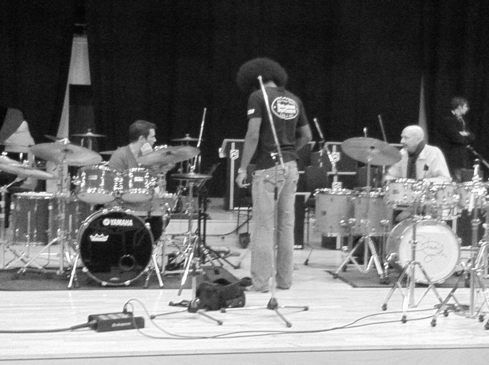 Soundcheck for World's Greatest Drummer Concert 2011 with Steve Smith