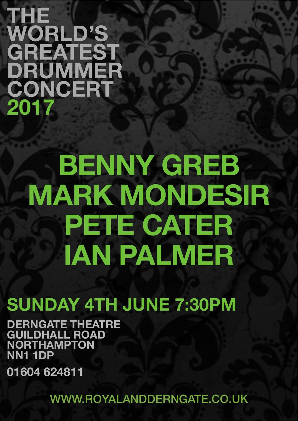 This year the World's Greatest Drummer Concert presents Benny Greb, Mark Mondesir and Pete Cater.