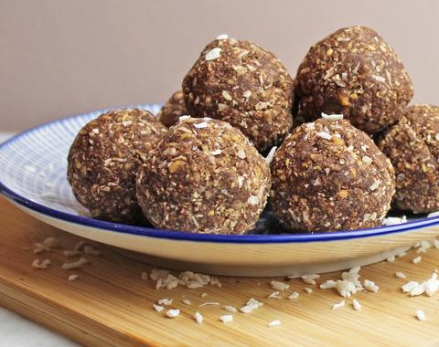 Try Selasi's Organic Peanut Butter and Coconut Protein Balls, here.