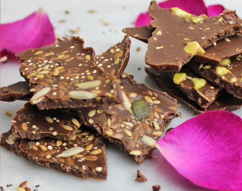 Try our Protein Chocolate Bark Recipe, here.