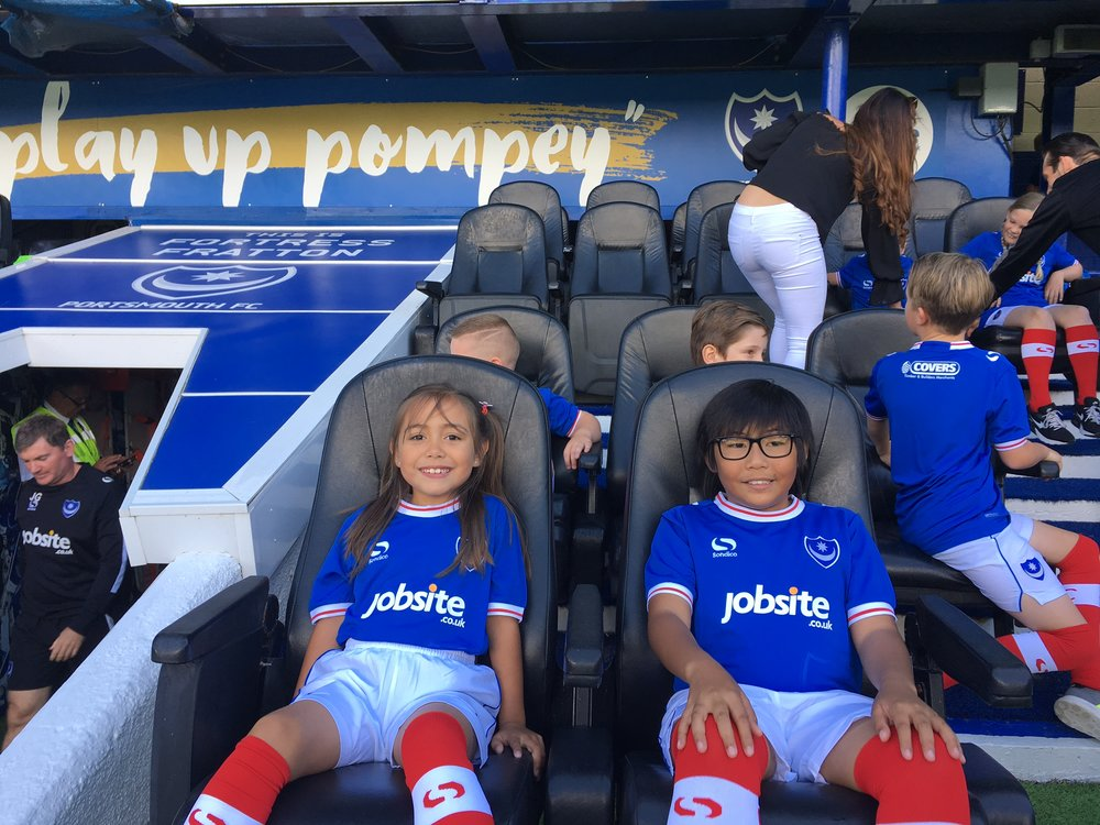 The kids enjoyed a 2-0 victory as Pompey started the season in style!