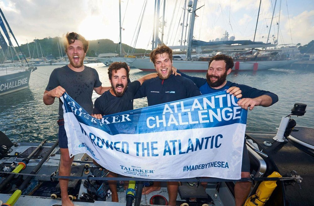 The team arrive safely in Antigua after 50 days at sea!