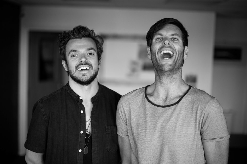 LANO Yoga Co-Founders Karl (left) and Neil
