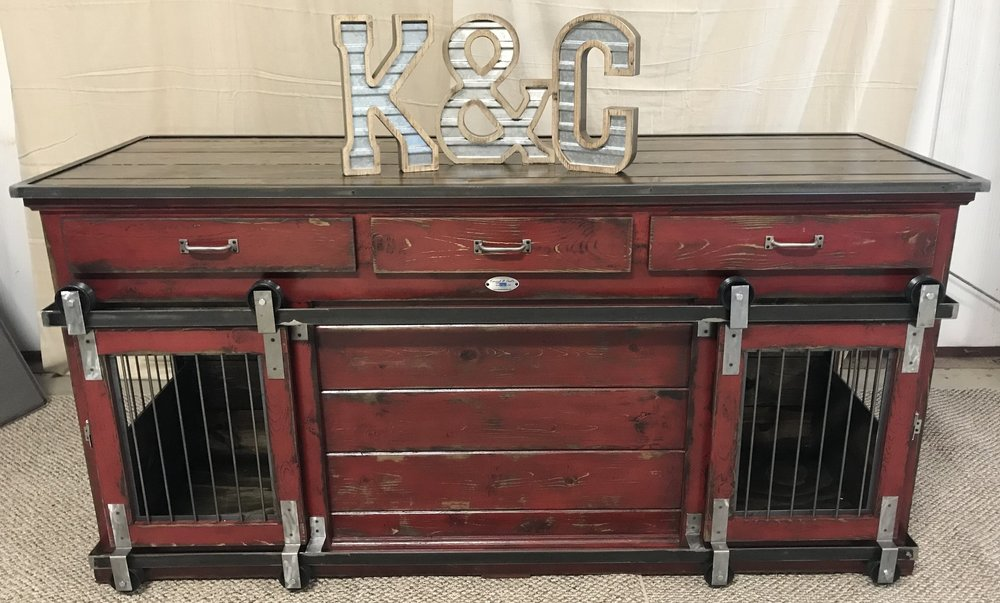 "Our quality sets us apart from the competition.  Each Kennel & Crate is stained and sealed with a water-based polyurethane.  If you choose to have yours distressed, we apply two coats of paint, then ""distress"" the paint, apply another coat of stain, and wipe it all down.  It has given us some amazing finishes for our customers."