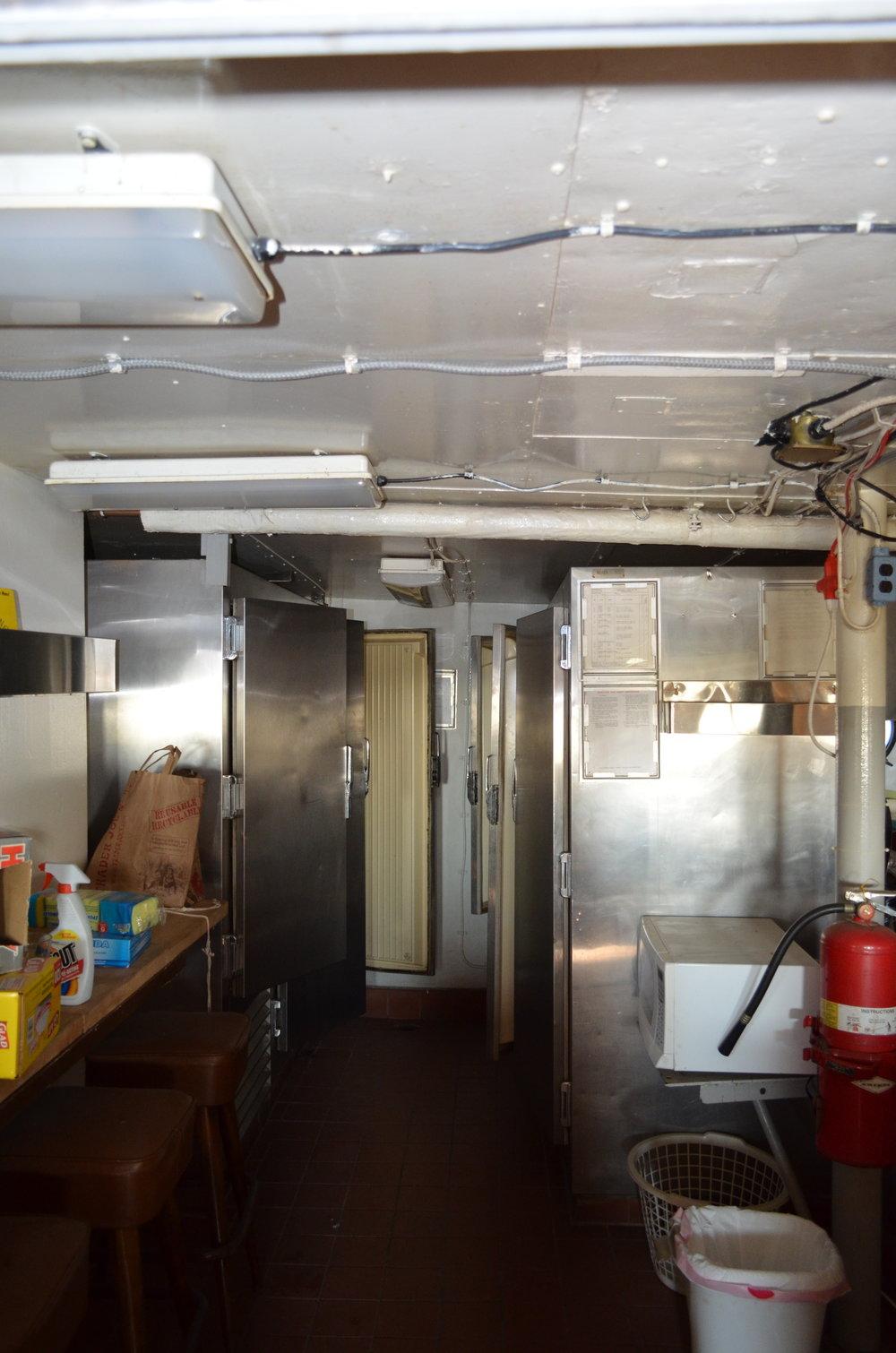 The refrigerator/freezer bay. Spring 2017.