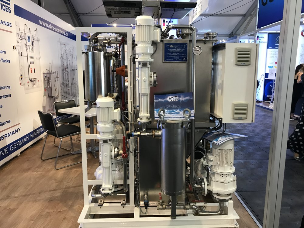 A sanitary processing plant (digester) that is about the right size for Fir.  Produced by DVZ Group.  Pictured from the 2017 Ft. Lauderdale Boat Show.