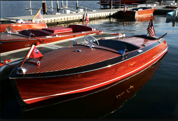 A classic Chris Craft Runabout.