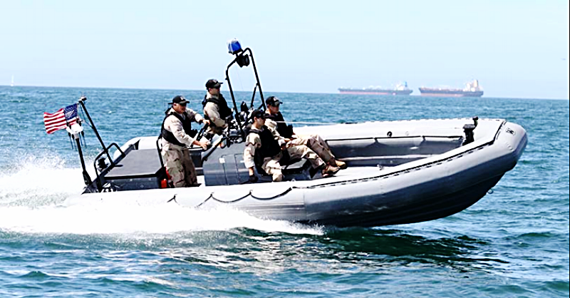 Pictured here is a Willard 7 meter RHIB setup for Navy use.