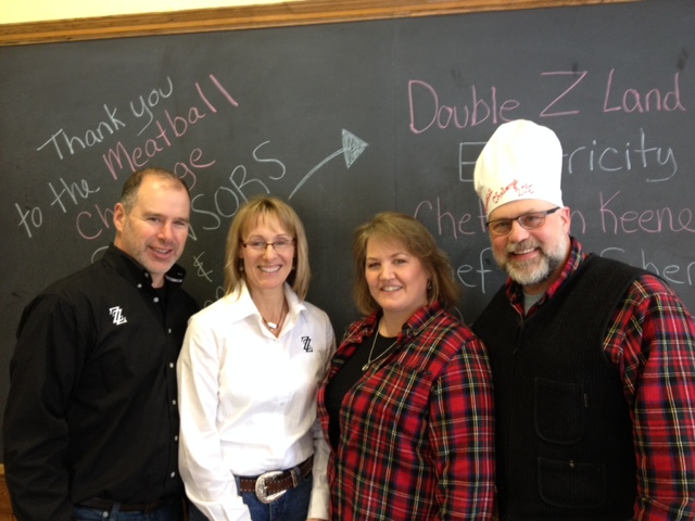 Central Maine Meatball Challenge 2015: From left to right: Chris & Kate Abbruzzese, co-owners of ZZ; and Patricia and Bob Bernheim of China, Maine.