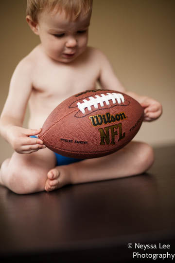 Football Photo Tips, toddler boy with football,