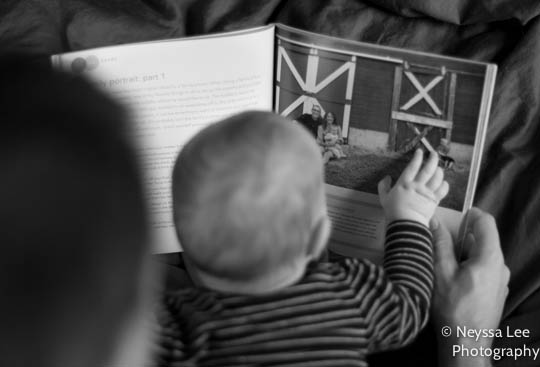 Your Child in Pictures, father and daughter reading, baby girl reading