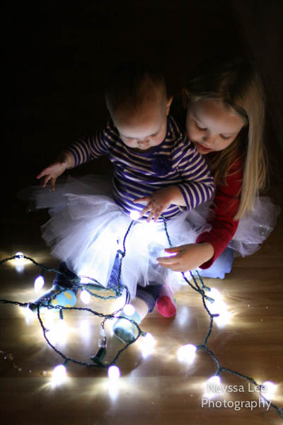 Photo Recipe for Capturing your Child with Christmas Lights