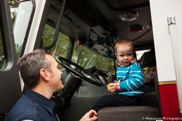 first egg hunt, photograph the every day, boy in firetruck
