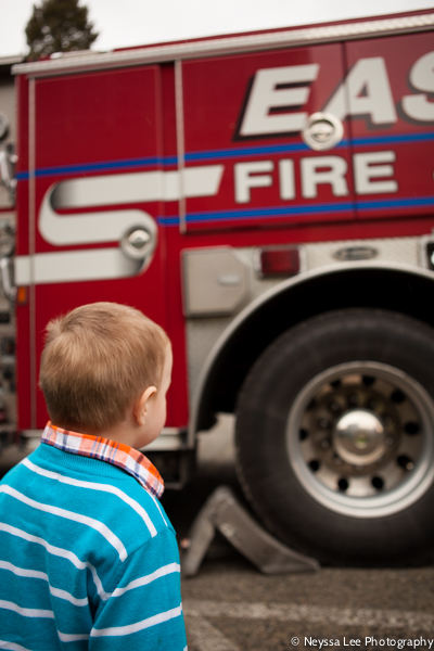 first egg hunt, photograph the every day, boy with firetruck