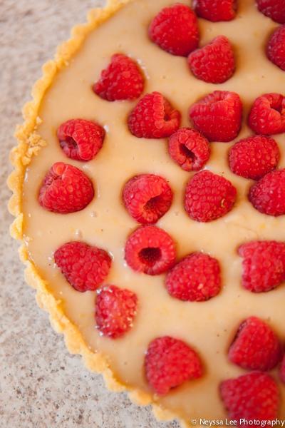 Vegan Raspberry Lemon Tart