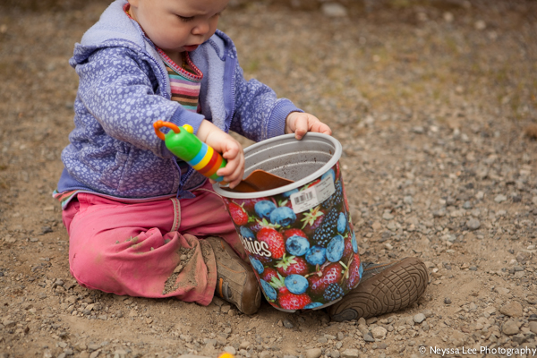 Toddler Playing in Dirt, Photographing Every Day Moments