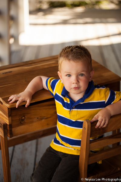 Back to School Mini Sessions, Preschool Boy at Desk,