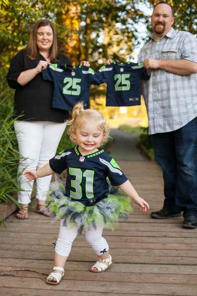 Photographing Sunshine and Dresses, sweet toddler girl, twin pregnancy announcement, 12th man family