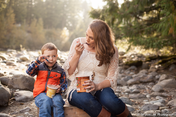 Ice Cream and Maternity Photos, Big Brother, Family