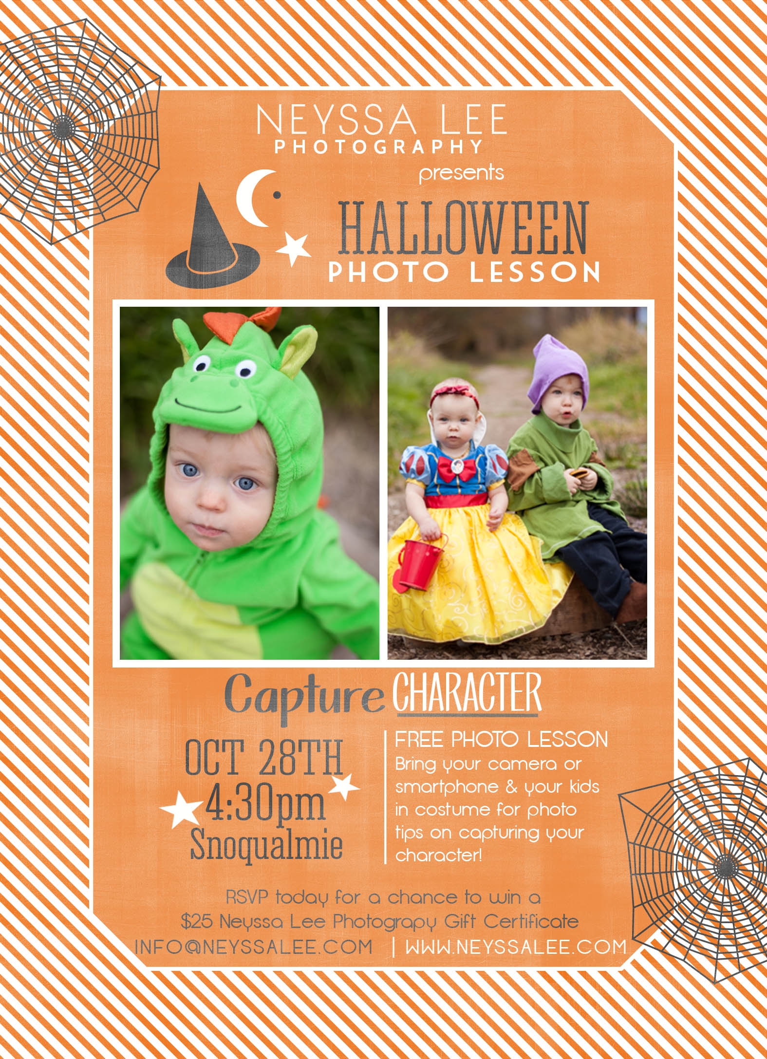 Halloween Photo Event, Costume Photo Tips