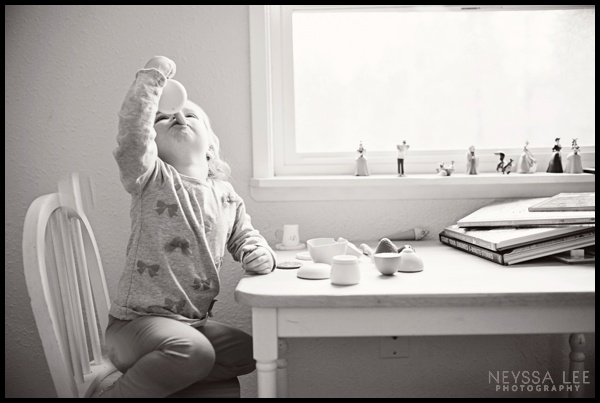 Photograph Your Kids Favorite Activity, Toddler Girl Tea Time Photo, Photo Tips