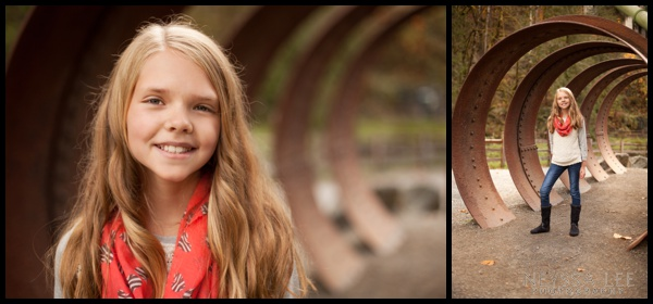 Family fall photos, pre-teen girl,