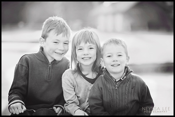 Siblings photo, 3 kids