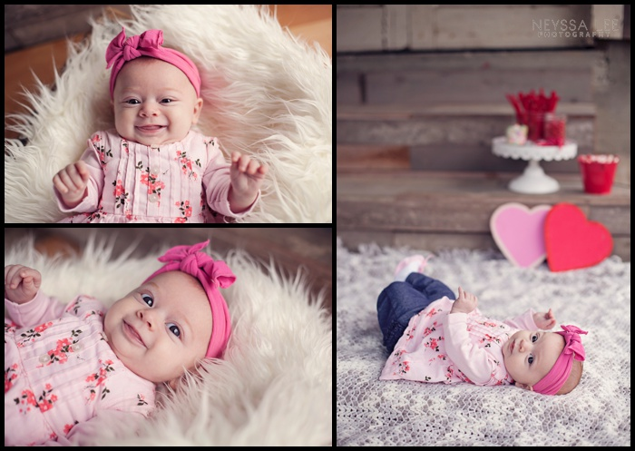 Photos of Little Valentines, Valentines Mini Session, Baby Girl