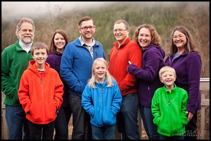 Pacific Northwest Extended Family Photos