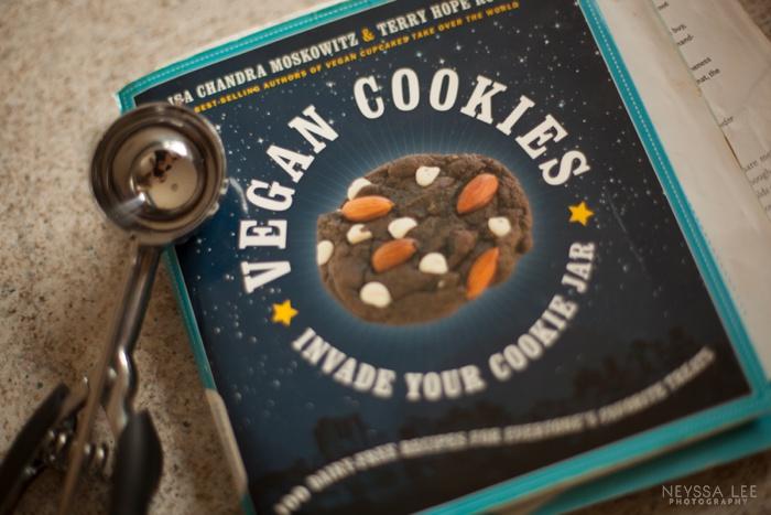 vegan chocolate chip cookies, photography, kids eating cookies