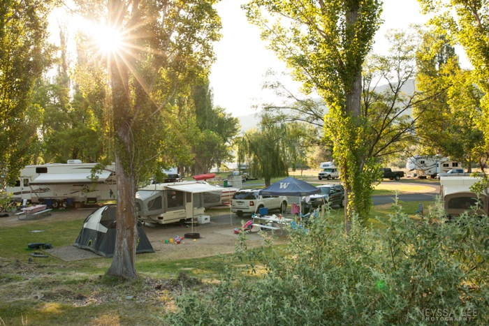 Photos of Summer, Sun Flare, Camping
