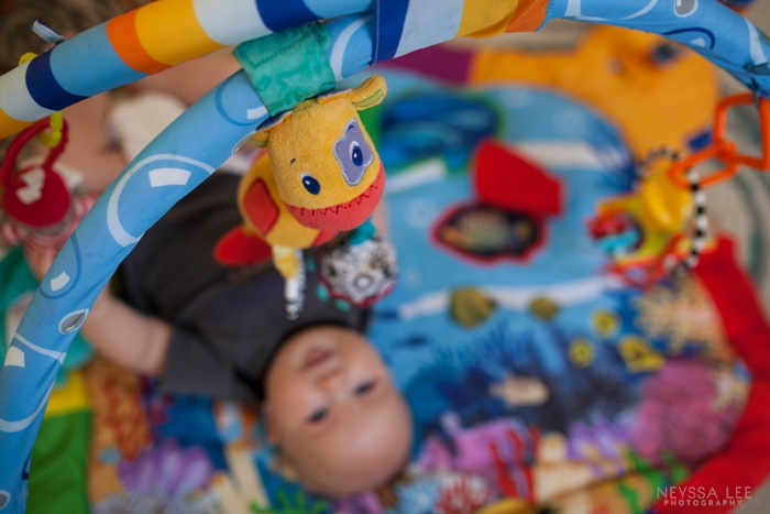 Summer Photo Challenge, COLORFUL, baby on activity mat
