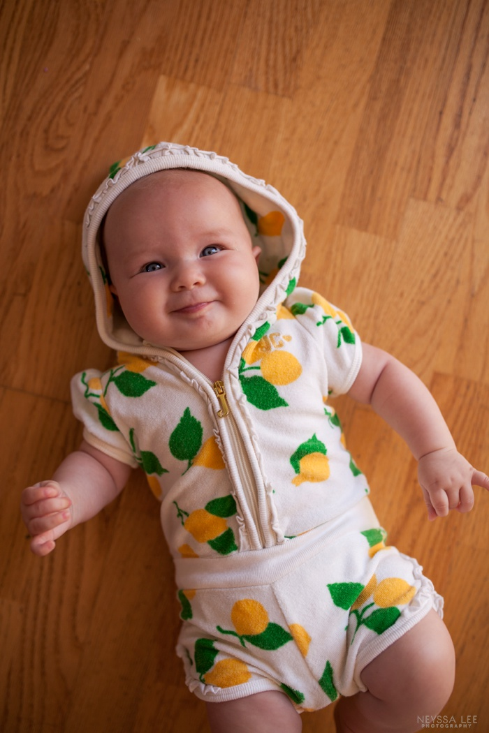 Summer Photo Challenge, outfit, baby girl, 4 months old