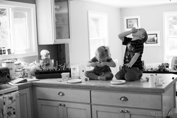 Summer Photo Challenge, Habit, Kids on counter, every day photography