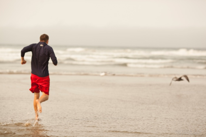Out of Focus, Summer Photo Challenge, Running on Beach