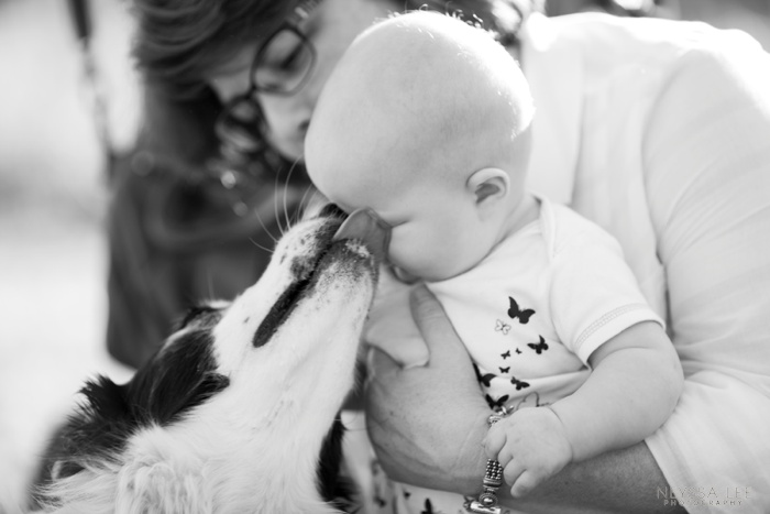 Summer Photo Challenge, Baby and Dog, Doggie Kisses