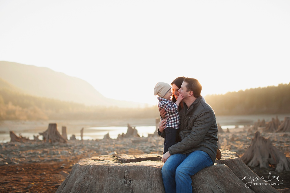 the love of a boy and his dog, gorgeous light, Snoqualmie family photographer