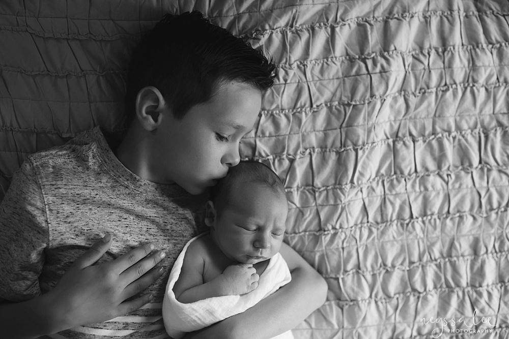 Home with baby boy, newborn photos,