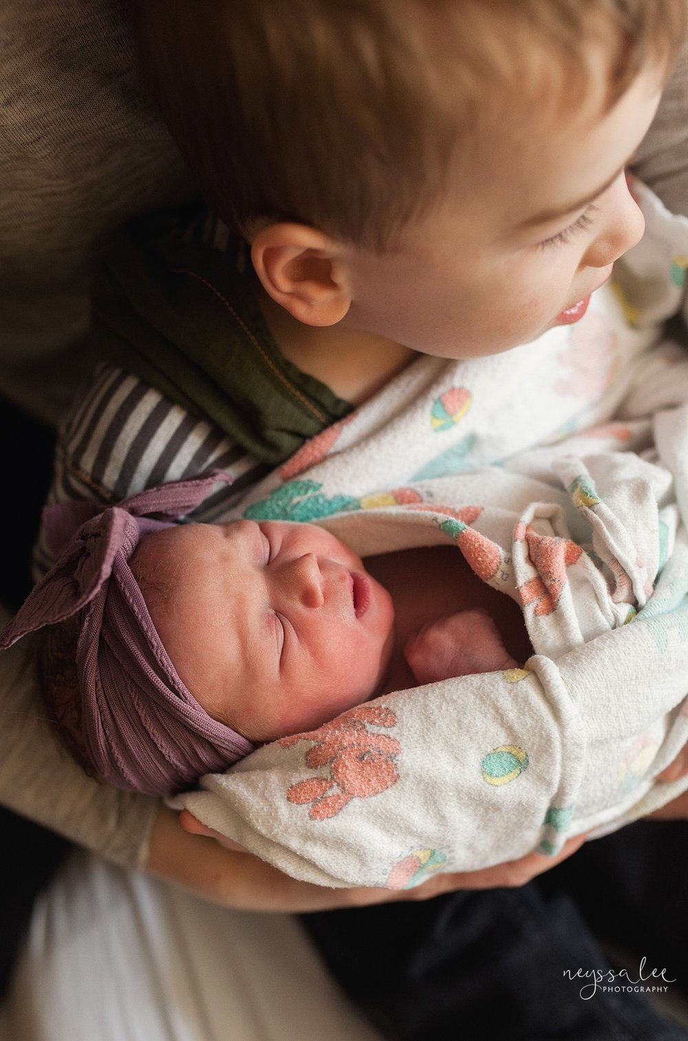 Issaquah Fresh 48 newborn photographer neyssa lee photography baby girl big brother