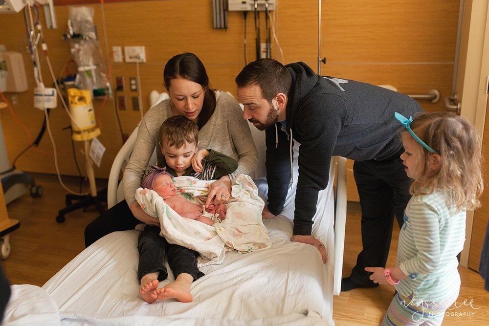 Issaquah Fresh 48 newborn photographer neyssa lee photography baby girl family of 5