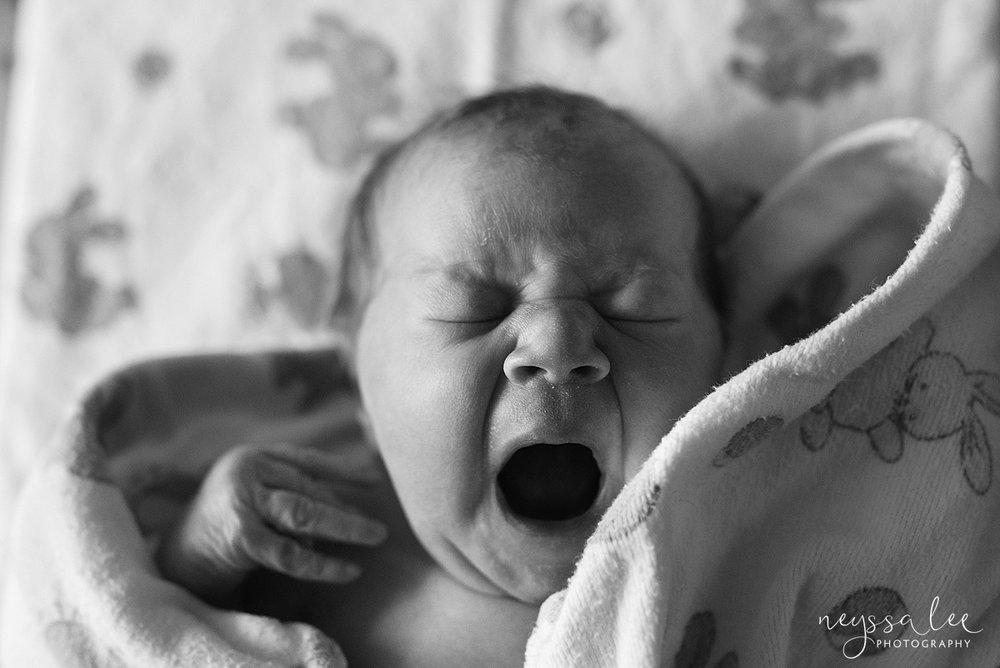 Issaquah Fresh 48 newborn photographer neyssa lee photography baby girl yawn
