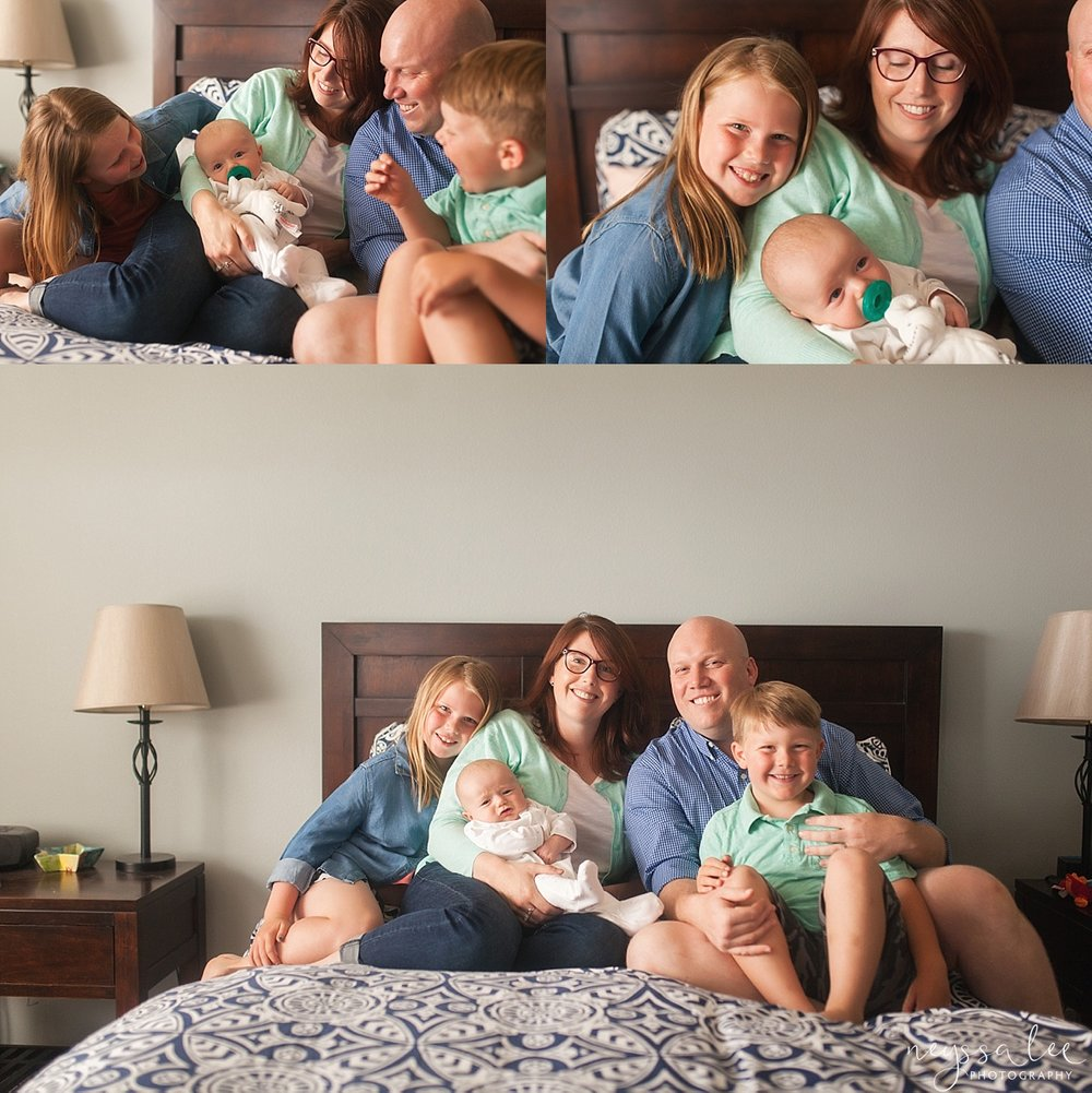Neyssa Lee Photography, Snoqualmie Newborn Photographer, Seattle, family of 5 loves on baby