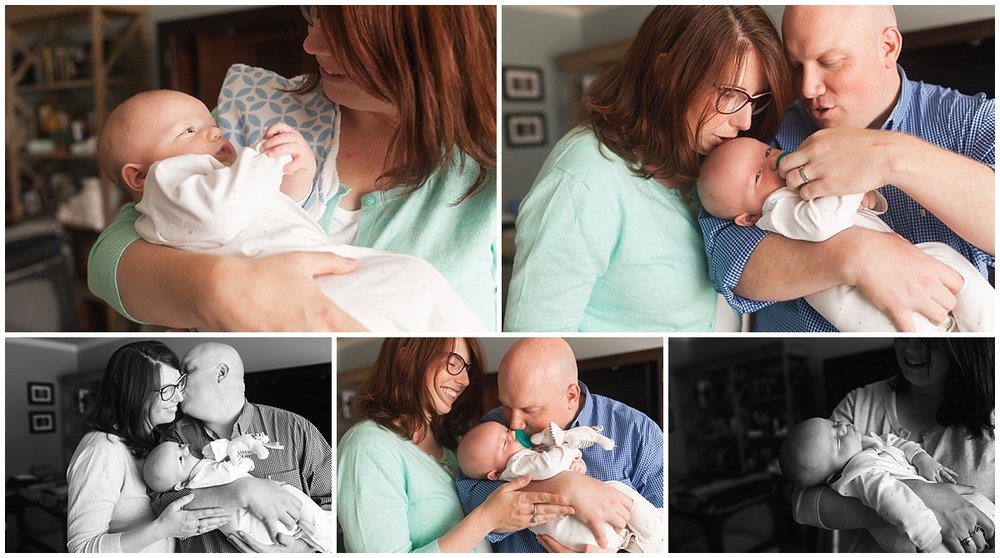 Neyssa Lee Photography, Snoqualmie Newborn Photographer, Seattle, family of 5, parents with newborn baby