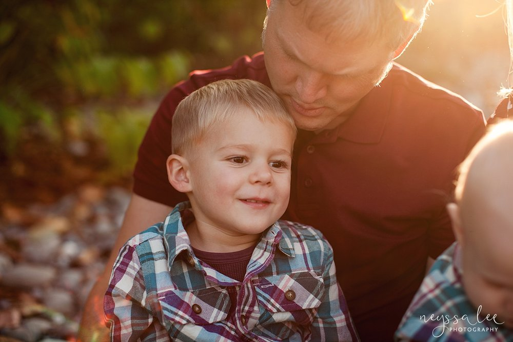 Snoqualmie Family Photographer, Neyssa Lee Photography, Family of 5, Father and Son
